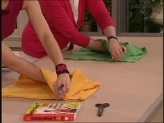 How to Fold a T-Shirt the Proper Way Videos | Home & Garden How to's and ideas | Martha Stewart. This woman is amazing! I've been folding the wrong way for years.