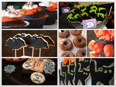 Cookie inspirations - collaged in our Pinkfisch blog for Halloween e.g. from Sugar Tumble, Michelle from Cakewalk Baking  or Happy Wish Company