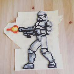 Stormtrooper Star Wars perler beads by imakeperlersoidontkillpeople