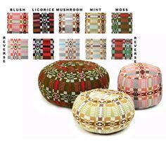 Nos Da Poufs Ottomans - like this color palette better.