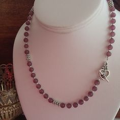 Purple Cats Eye Toggle Clasp Necklace £8.00