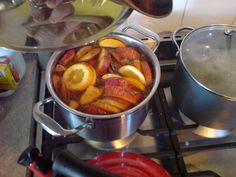 mulled cider - (pete barr-watson @flickr) - simmer apples, oranges, your choice of spices and cider, then enjoy!