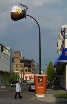 12 Clever Ads on Street Poles and Pillars - Oddee.com (street ads, street advertising)