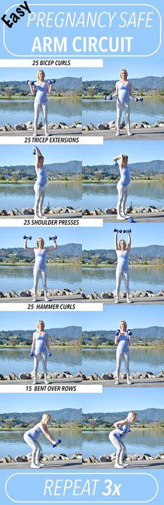 Pregnancy Safe Workout- Arm Circuit #Pregnancy