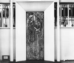 Gesso panel by Margaret MacDonald, Willow Tea Rooms, 217 Sauchiehall Street, Glasgow