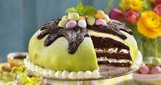 Chokladtårta med päronfyllning recept