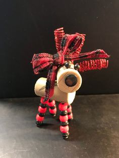 Wine Cork Deer / Reindeer Red and Black with Red and Black | Etsy Wine Cork Ornaments, Santa Ornaments, Red Christmas, Christmas Bulbs, Cork Crafts, Red And Black Plaid, Brighten Your Day, Cute Designs, Reindeer