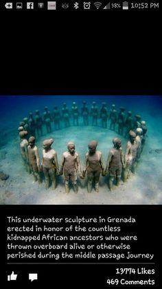Wow Photo Statue, Middle Passage, Bermuda Triangle, Underwater Sculpture, Underwater Art, Underwater Photography, Photography Sites, Underwater Pictures, Jason Decaires Taylor