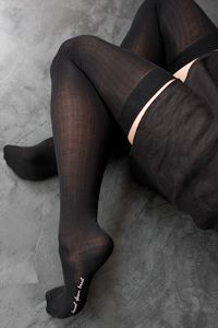 Hansel From Basel Silk Thigh Highs - if you enjoy tall socks you should probably have a pair - there's not enough silk stockings around these days. UPDATE: we regret to inform you that this style has been discontinued and is no longer available.