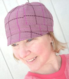 Bring on Spring! Cloche Newsboy Hat - reversible...you should see the other side!