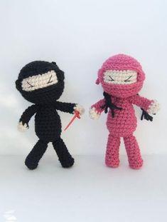 Ninja Attack! Crochet Dolls - Knitting Patterns and Crochet Patterns from KnitPicks.com