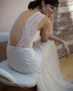 """Limor Rosen -- LOVELY BRIDE (@lovelybride) on Instagram: """"We showed you the front yesterday, but this.back. This may be one of the best illusion backs we've…"""""""
