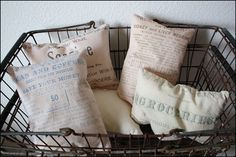 Vintage Feed Sack Pillows