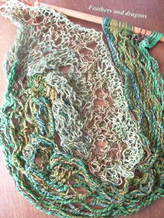 sprang gecombineerd met kant breien sprang combined with knitted lace Macrame, Knitting, Spring, Crochet, Lace, Inspiration, Crochet Hooks, Biblical Inspiration, Tricot