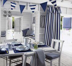 Domek w stylu morskim. Kolekcja tkanin Maritime, Prestigious Textiles, prestigious.co.uk