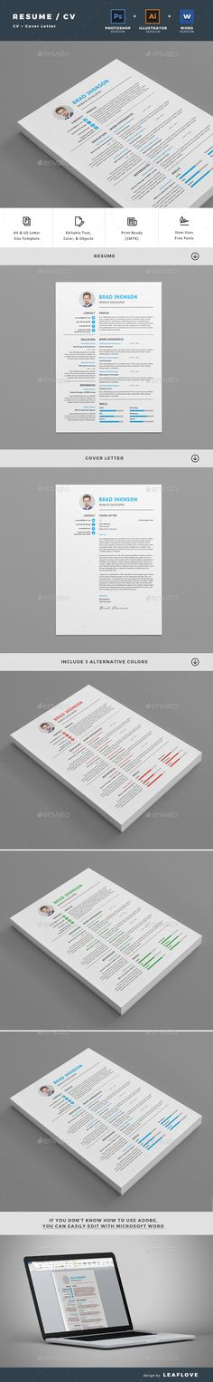Clean Resume \ Cover Letter Resume cover letters, Cover letter - cover letter and resumes