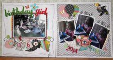 Birthday Girl Scrapbook Layouts