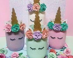 Unicorn Mason Jar, Unicorn Party Decor, Unicorn Decor, Unicorn, Glitter Jar, Pastel Unicorn, Home Decor, Pencil holder, Unicorn Mason Jars