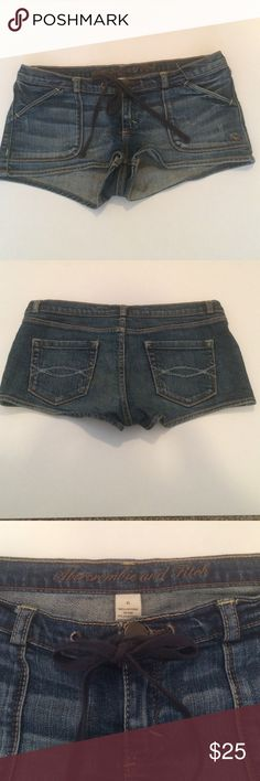 Abercrombie and Fitch Jean short. Size 6. Gently worn Abercrombie and Fitch Jean short. Button waist with tie. Size 6. Abercrombie & Fitch Shorts Jean Shorts