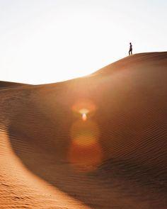 Exploring the Arabian Desert.