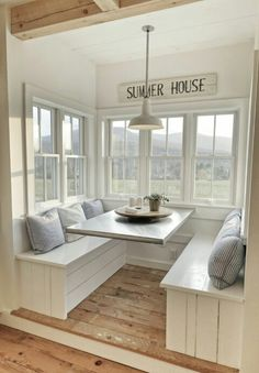 I love this kitchen nook with windows. Such a pretty interior design . I love this kitchen nook with windows. Such a pretty interior design … I love this kitchen nook with windows. Such a pretty interior design House Design, House, Home Decor, House Interior, Farmhouse Kitchen Design, Home Interior Design, Interior Design, Interior Deco, Minimalist Home Interior
