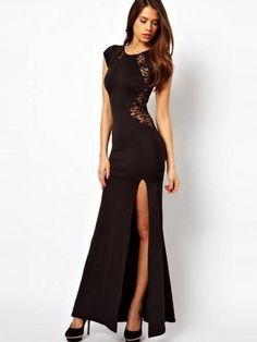 Sheath/Column Scoop Ankle-Length Chiffon Fashion Dress