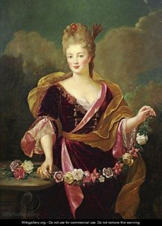Portrait Of A Woman, Said To Be Adrienne Lecouvreur by (after) Alexis-Simon Belle, no date (Adrienne Lecouvreur (5 April 1692 – 20 March 1730) was a French actress)