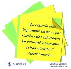 Citation Albert Einstein Curiosité