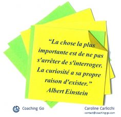 Citation Albert Einstein Curiosité