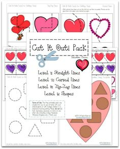 Valentines Printables: FREE Cutting Practice Pack for Valentines | Free Homeschool Deals ©