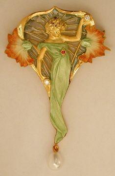 Art Nouveau pendant/brooch, Masriera