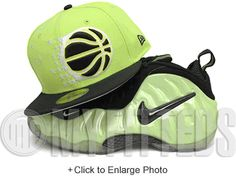 f288348886a Orlando Magic Voltage Lime Black White Nike Penny V Volt Matching New Era  Hat New Era