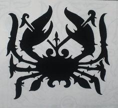 traditional Borneo tatoo design : Crab