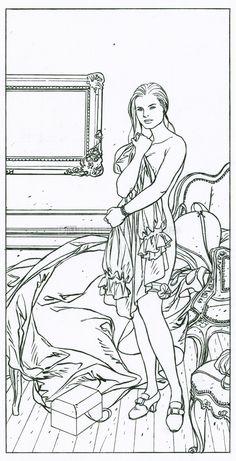 "illustration originale ""Agnes"" - L'épervier - Patrice Pellerin"