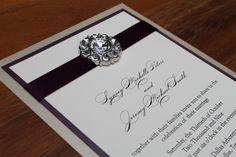 Glamorous Wedding Invitation Luxurious Glitz por decadentdesigns, $4.00
