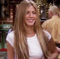 Estilo Rachel Green, Rachel Green Hair, Long Hair With Bangs, Long Hair Cuts, Long Hair Styles, 90s Hairstyles, Summer Hairstyles, Haircuts, Jennifer Aniston Style