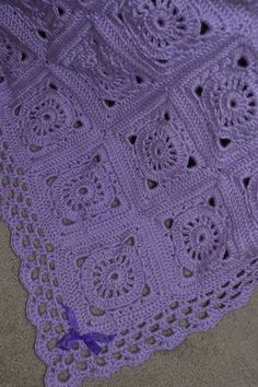 Victorian Orchid Baby Afghan w/beanie
