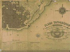 Plano Departamento Topográfico 1867
