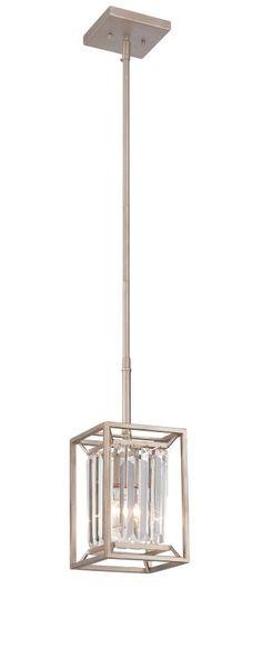 Designers Fountain 87430 Linares 1 Light Mini Pendant Aged Platinum Indoor Lighting Pendants