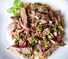 Nam Tok Recipe: Thai Steak Salad, so good and so easy to make!