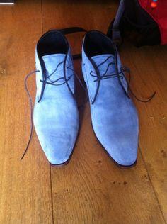 Suède schoenen van Greve. Super kleurtje