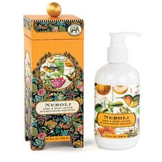 Neroli Hand and Body Lotion from FND Promotion by Michel Design Works  Great value without sacrificing quality  Contains Shea butter, aloe, and other botanical ingredients  Beautifully packaged in a keepsake gift box  Size: 8 fl. oz. / 236 ml. Scent: Sweet orange and orange blossoms | Shop this product here: spree.to/5z3 | Shop all of our products at http://spreesy.com/green_mama    | Pinterest selling powered by Spreesy.com