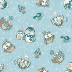 NEW Owl Wise flannel by Shelly Comiskey for Henry Glass by the YD #HENRYGLASSCO