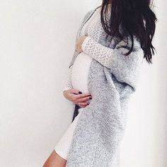 A comfy dress + a chunky sweater = fall perfection