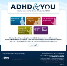 ADHD and You -  Informational site from Shire Pharmaceuticals - Screenshot courtesy of @Pinstamatic