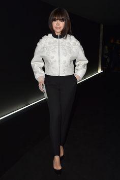 Miroslava Duma attends the Balenciaga show as part of the Paris Fashion Week Womenswear Fall/Winter 2015/2016  on March 6, 2015 in Paris, France.