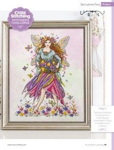 Springtime Fairy The World of Cross Stitching Issue 213 March 2014 Saved