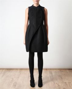 Carven structured double-breasted wool dress