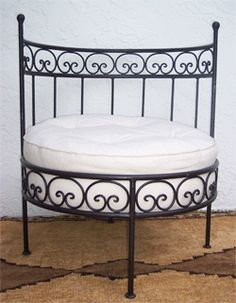 Moroccan wrought iron chair - wrought iron furniture imports at justmorocco