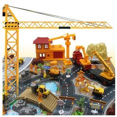 200PCS Engineering Construction Site Scene Building Model Set  For Kids Children #Doesnotapply